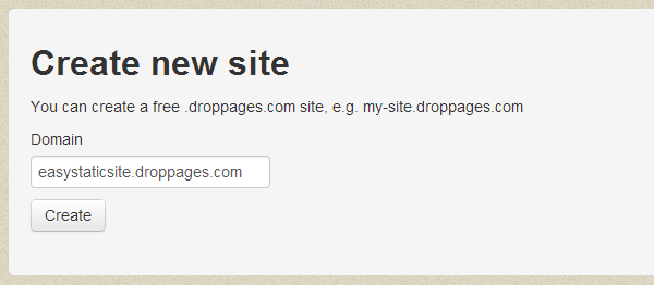 set a domain for site