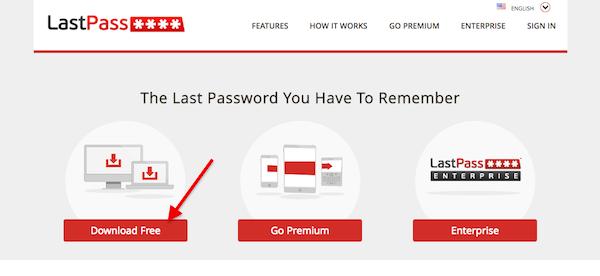 Installing LastPass free