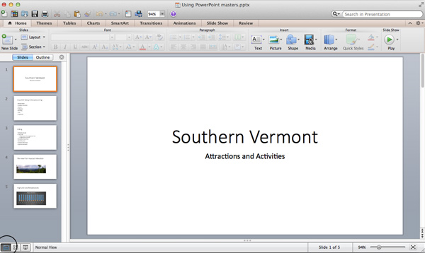 how to make a powerpoint on a mac computer