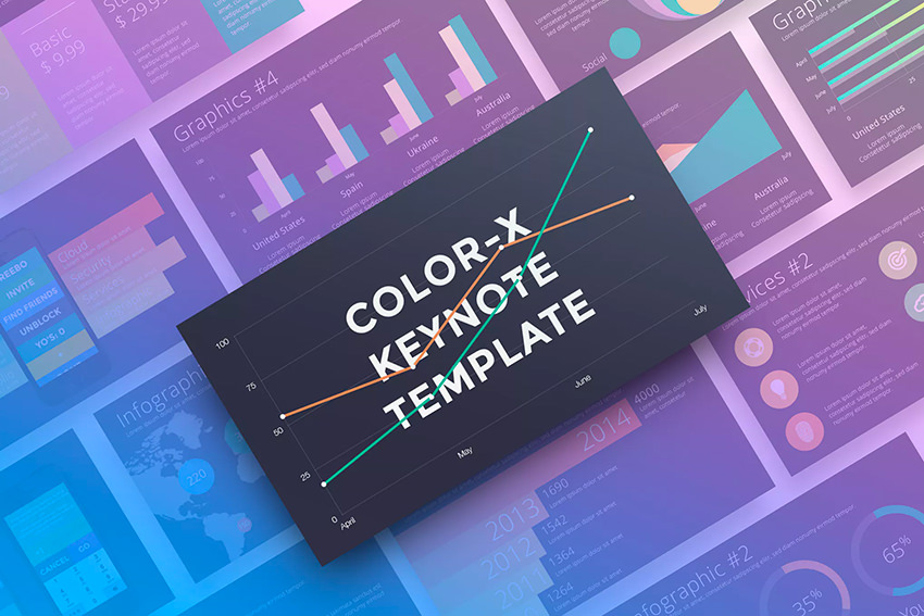 Color-X Keynote Template