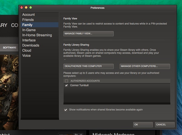 How to share steam library with friend on mac free