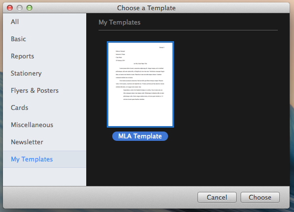 How To Create An Mla Template In Word And Pages Tuts
