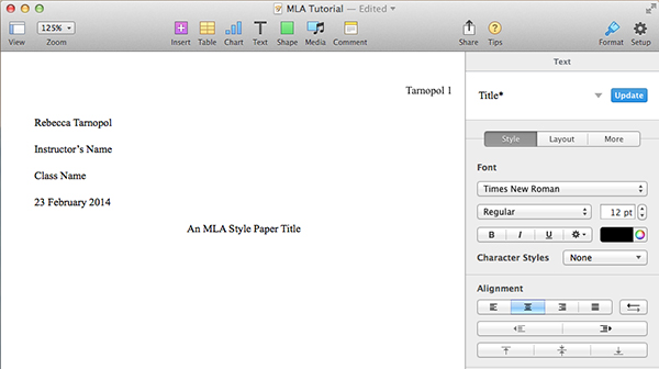 Pin Title Page An Mla Trademark Text Pages Follow The Same General Fo ...