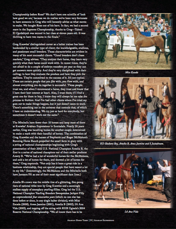 June 2017 Arabian Horse Times Feature