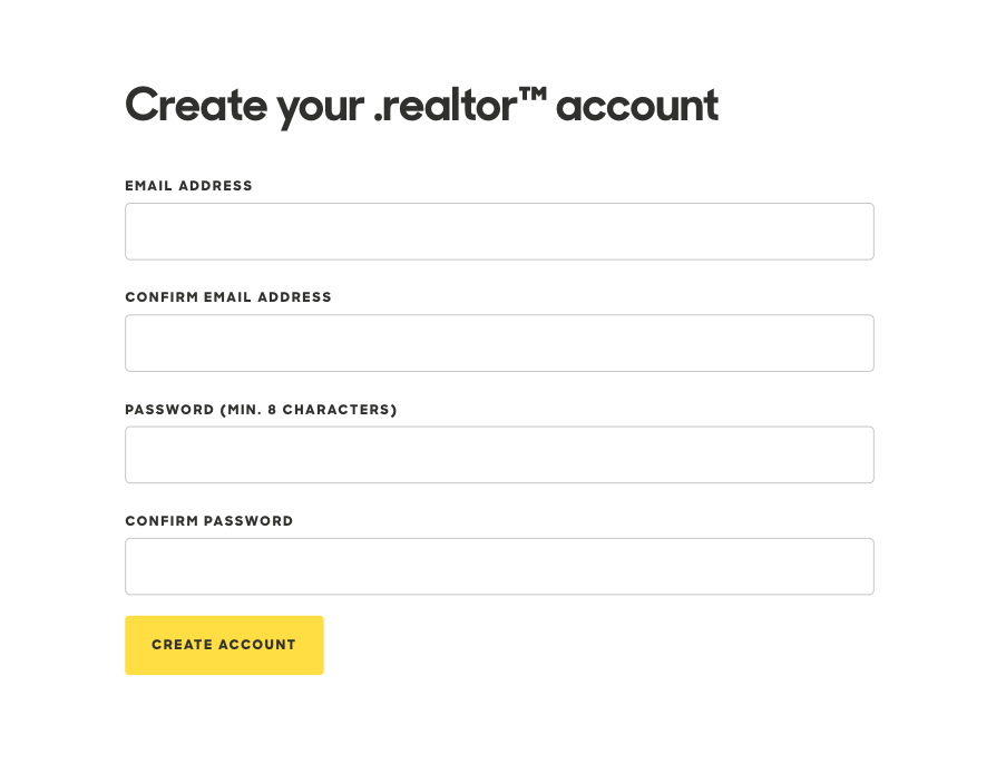 Create your .realtor™ account