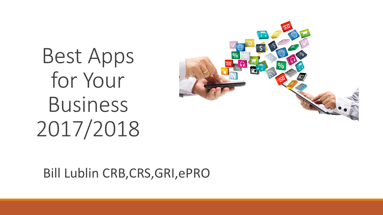 20172018 Best Apps For Your Business Webinar