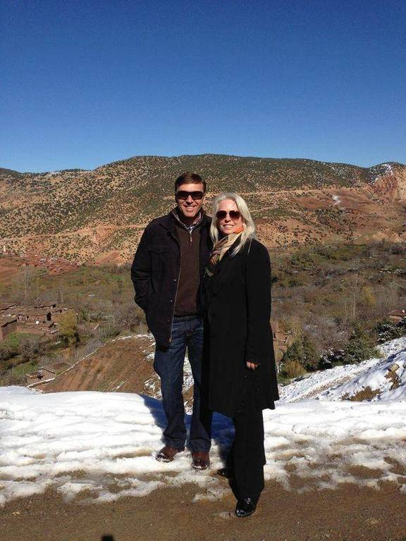 David & Kim in the beautiful countryside of Marrakech