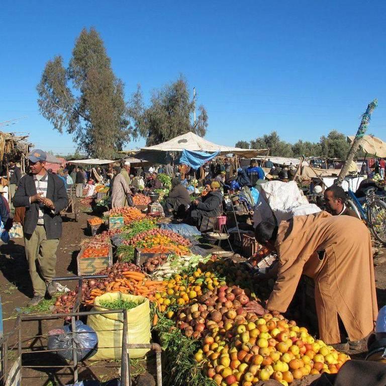 Berber market outside of Marrakech