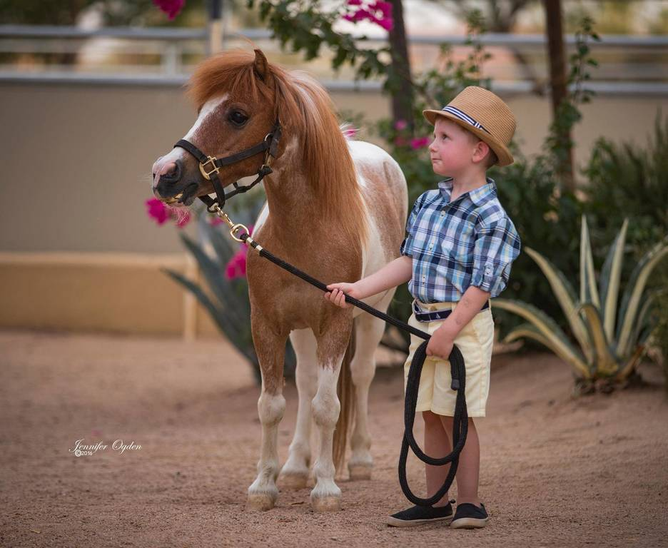 Chase with his pony Dixie Darlin