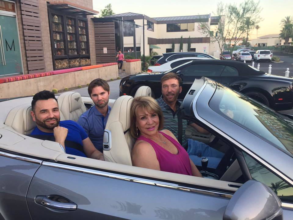 Cruising Scottsdale road with friends! Curtis, Zack & Karen