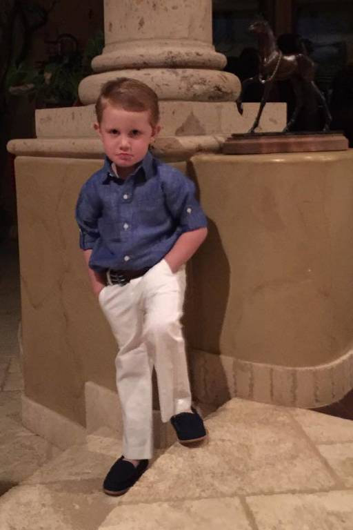 Chase feeling very GQ Toddler!