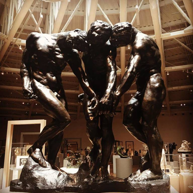 Amazing collection of sculptures including many Rodin and Pina works of art