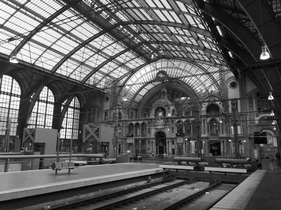 Antwerpen-Centraal railway station.