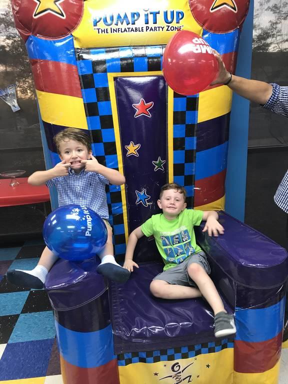 Chase and Geo celebrating Geo's 4th Birthday