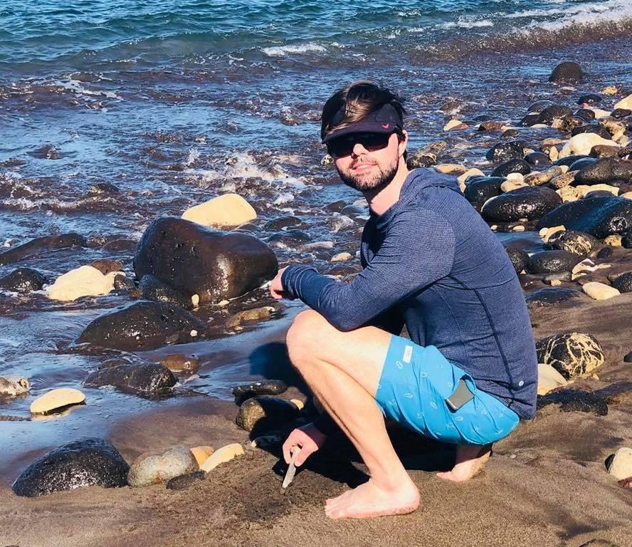 Zack on Santa Cruz Island