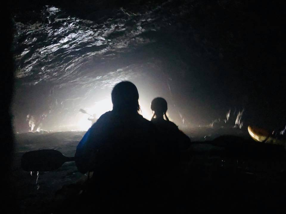 Inside a cave on Santa Cruz Island