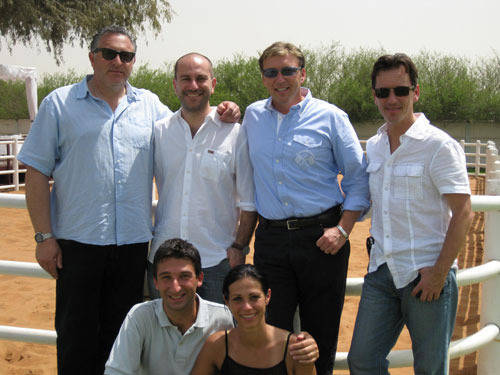 Team Dubai Italty meets Team Dubai USA Woody, Simone, David, Scott, Paolo and his wife