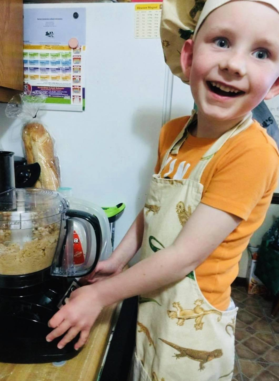 Hunter cooking up some fun!