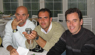 Our Friends Gigi Grasso, Luca Olberti with Scott at the horse show in St. Tropez
