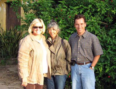 Carol Steepe, Lenita Perroy and Scott Bailey and the wonderful Haras Meia Lua