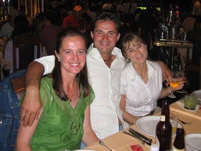 Sue Martin, Sandro Pinha and friend