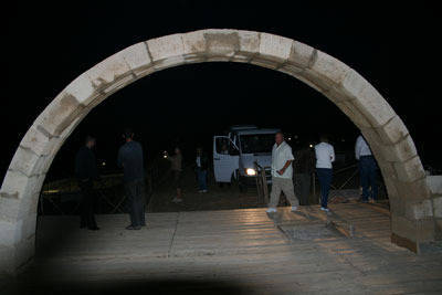 The entrance to the baptism site of Jesus
