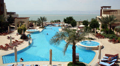 The pool over looking the Dead Sea
