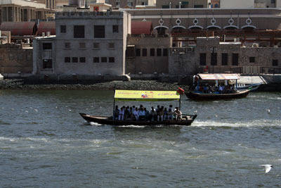 A boat ride on the Dubai Creek