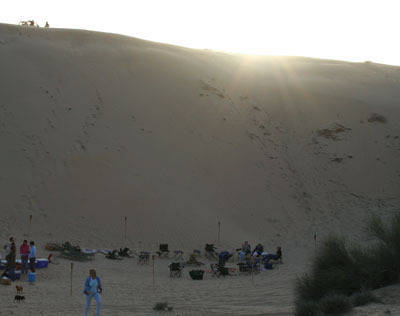 Our first evening in Dubai was a party and dinner hosted by Eileen Verdick in the desert.