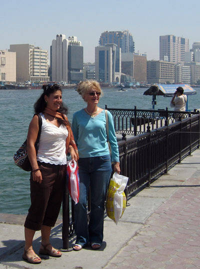 Kim & Judy Nordquist on the Dubai Creek