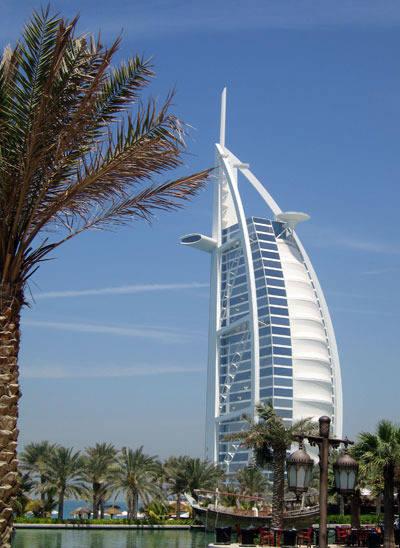 The Burj al-Arab hotel has become an architectural icon of Dubai.