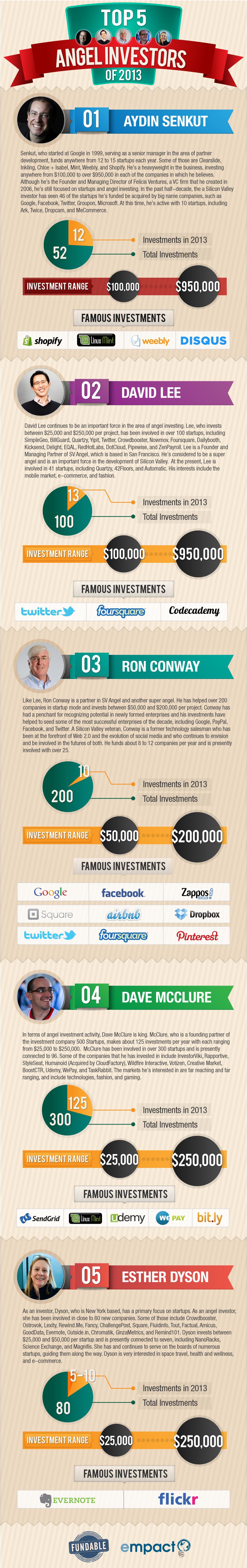 Top 5 Angel Investors of 2013