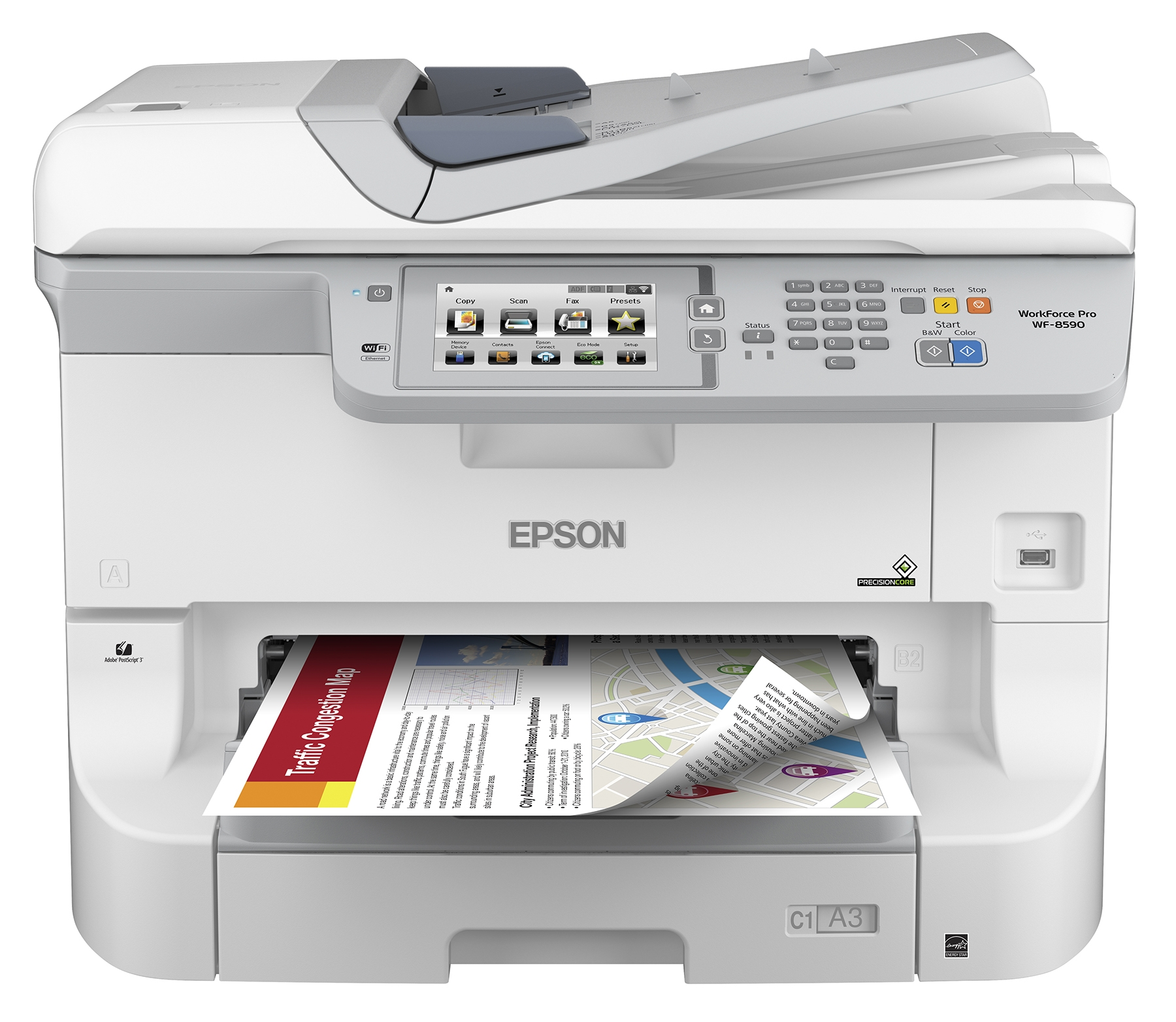 Nye Epson Introduces Heavy Duty A3 Color Workgroup Printer and MFP TH-97