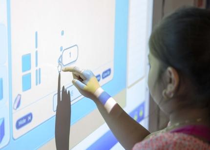 Student Using BrightLink Pro