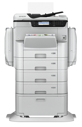 WorkForce Pro WF-C869R A3 with optional paper trays