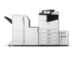 WorkForce Enterprise WF-C20590 with optional  finisher, bridge unit, and high capacity paper unit