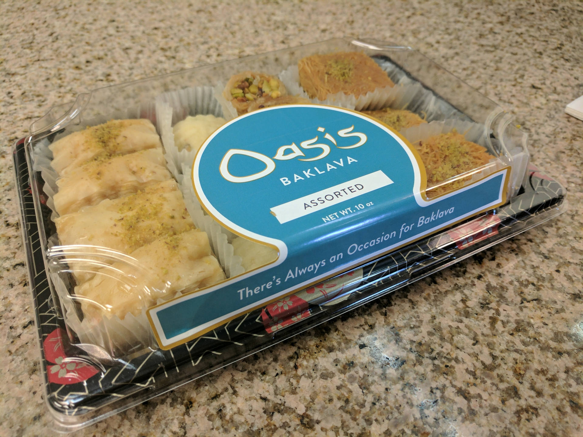 Boutique restaurant Dishdash's baklava labels printed on Epson ColorWorks C7500GE