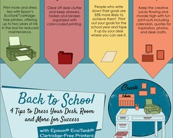 Dress Your Desk, Room and More for Success This Back-to-School Season with  Epson EcoTank Cartridge-Free Printers