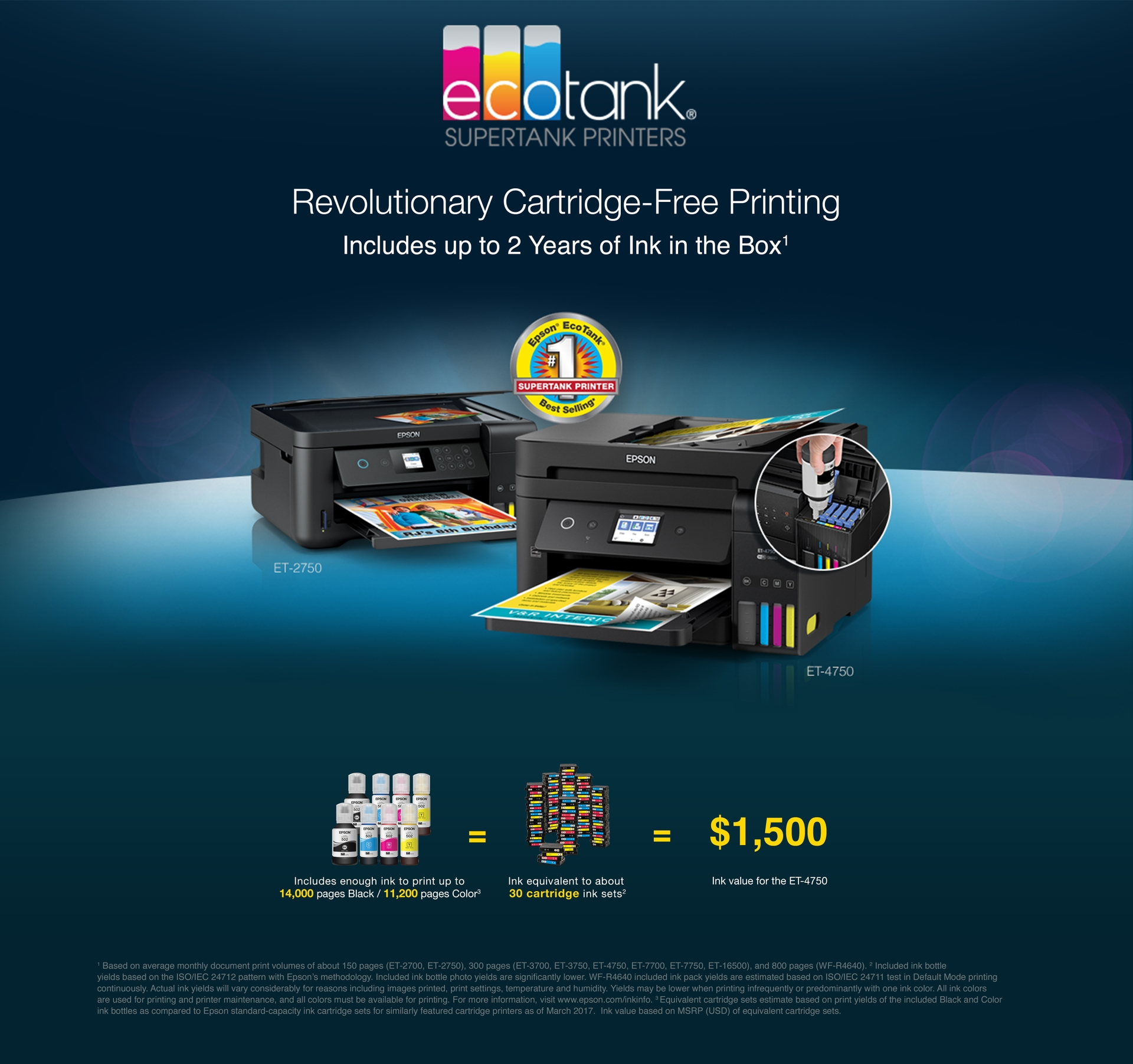 EcoTank - Revolutionary Cartridge-Free Printing