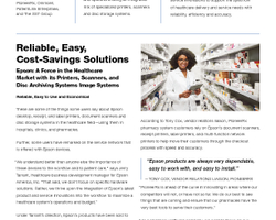 Reliable, Easy, Cost-Savings Solutions