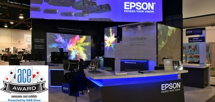 Epson Booth Wins NAB 2018 ACE Award