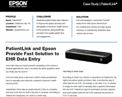 PatientLink and Epson Provide Fast Solution to EHR Data Entry