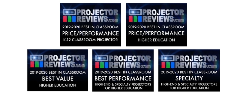 ProjectorReviews com Recognizes Five Epson Display Solutions