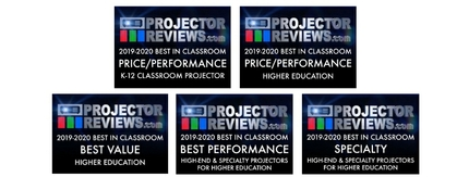 ProjectorReviews.com Recognizes Five Epson Display Solutions in  Annual Classroom Projector Report