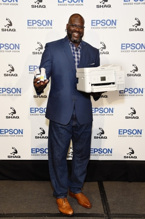 Epson July 9 Media Event_Shaquille ONeal with EcoTank_Image 2