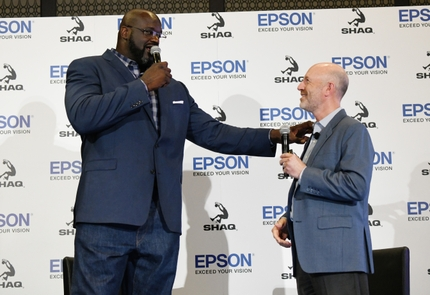 Epson July 9 Media Event_Keith Kratzberg and Shaquille ONeal_Image 1