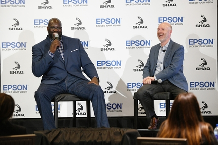 Epson July 9 Media Event_Keith Kratzberg and Shaquille ONeal_Image 2