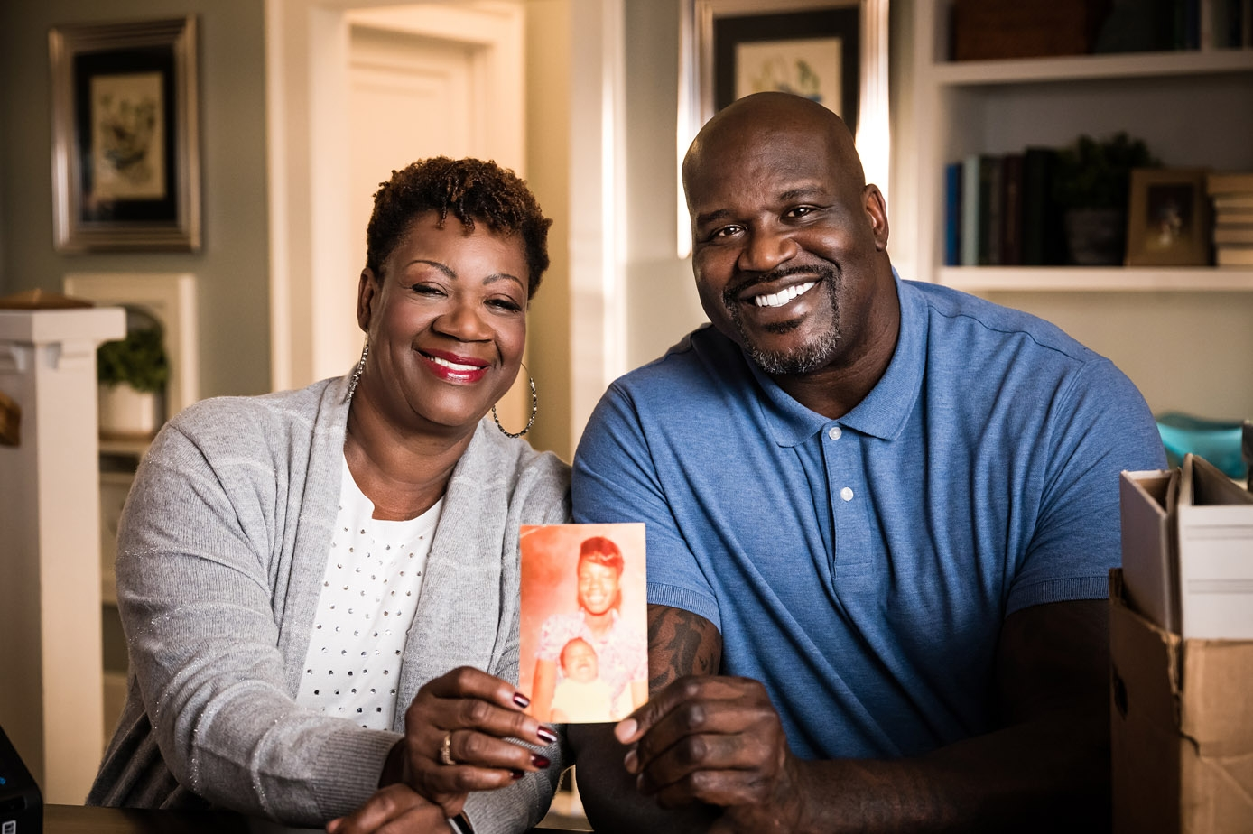 """Epson Launches """"Preserve What's Priceless"""" Ad Campaign Featuring Adorable Mother and Son Duo, Lucille and Shaquille O'Neal 