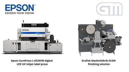 Epson and Grafisk Maskinfabrik Offer Bundle for  Digital Label Printing and Finishing Solution