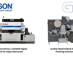 Epson and Grafisk Maskinfabrik Offer Bundle for  Digital Label Printing and Finishing Solution